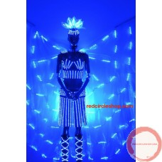 Telecontrolling color-changeable luminous costume with wing