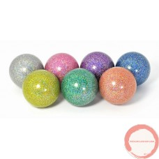 Soft stage ball rainbow glitter color 100mm