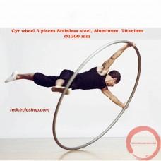 Cyr wheel 3 pieces Stainless steel, Aluminum, Titanium Ø1300 mm (Pre-order)