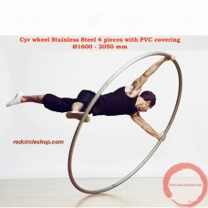 Cyr wheel Stainless Steel 4 pieces with PVC covering Ø1600 - 2050 mm  (Pre-order)