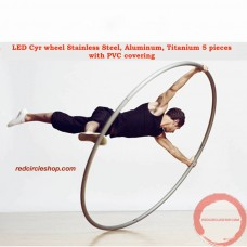 LED Cyr wheel Stainless Steel, Aluminum, Titanium 5 pieces with PVC covering 1600 - 2050 mm (Pre-order)