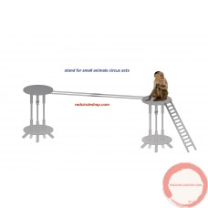 Apparatus for small animals acts with dogs, cats