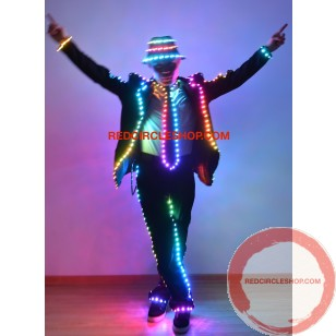 LED full color MJ dancing costume