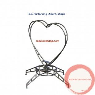 Parter ring «heart» shape.