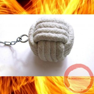 Fire Poi Monkey Fist (Monkeyfist) 4 turns Ceramic cord
