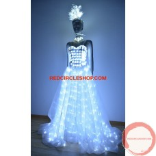 LED luminous white formal dress