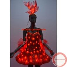 LED dancing costume (Red)