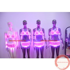 LED dancing costume (Bright pink)
