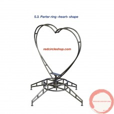 Parter ring «heart» shape.  (Contact for Price and availability)