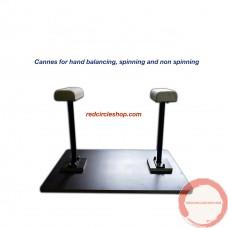 Handbalancing cannes, not spinning.