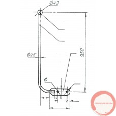 Up standing stick for Tight wire Ø25 x 950
