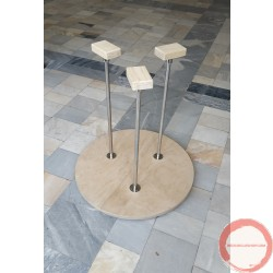 Hand Balancing kit with three canes and foldable base