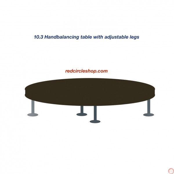 Handbalancing table with adjustable legs. - Photo 2