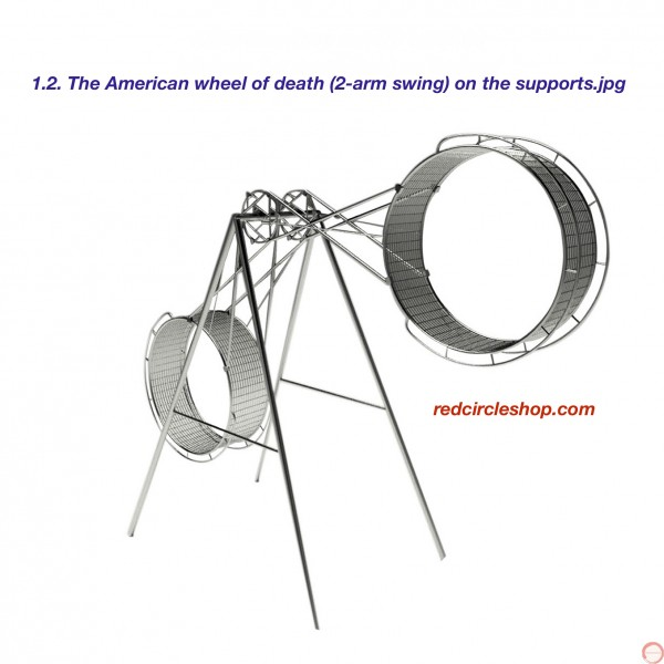 PRICE ON REQUEST. The American wheel of death (2 ор 3 arms swing) on the supports - Photo 15