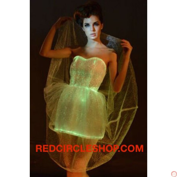 Luminous dress/ Optical fiber (contact for pricing) - Photo 5