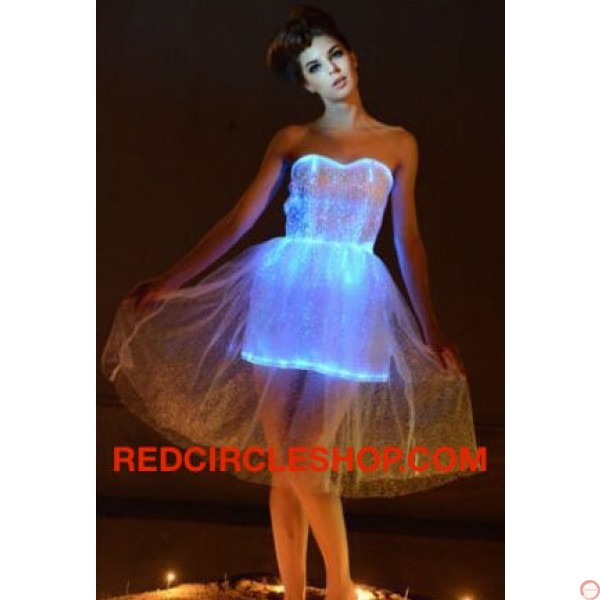 Luminous dress/ Optical fiber (contact for pricing) - Photo 8