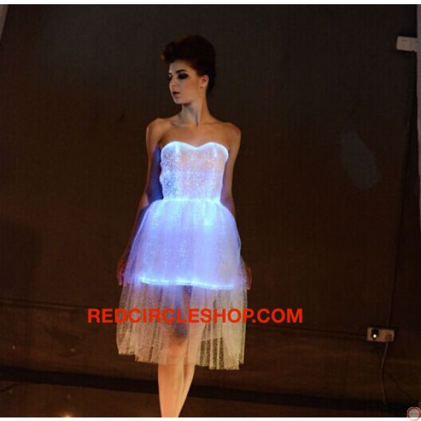 Luminous dress/ Optical fiber (contact for pricing) - Photo 6