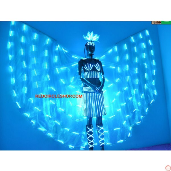 Telecontrolling color-changeable luminous costume with wing - Photo 10