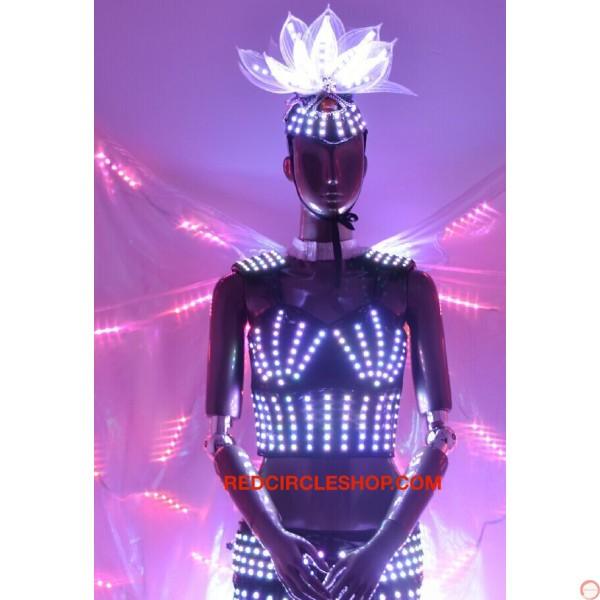Telecontrolling color-changeable luminous costume with wing - Photo 17