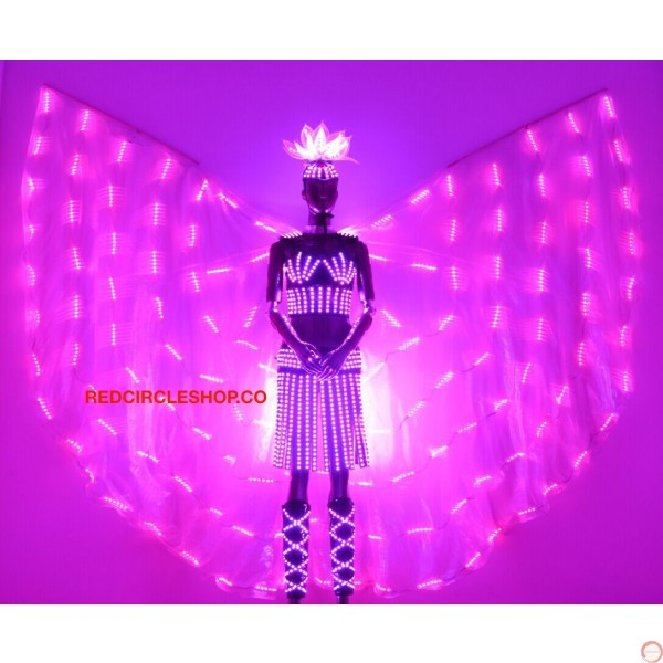 Telecontrolling color-changeable luminous costume with wing - Photo 16