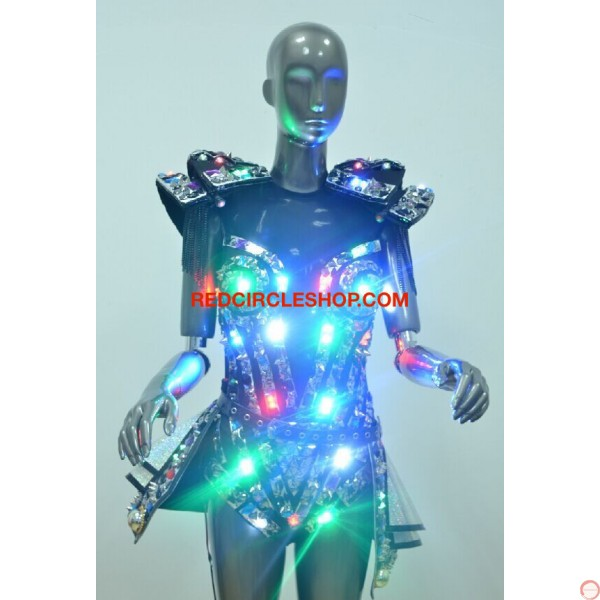 LED jewel laser dancing costume - Photo 7