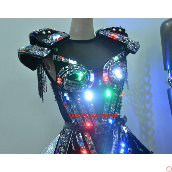 LED jewel laser dancing costume - Photo 8