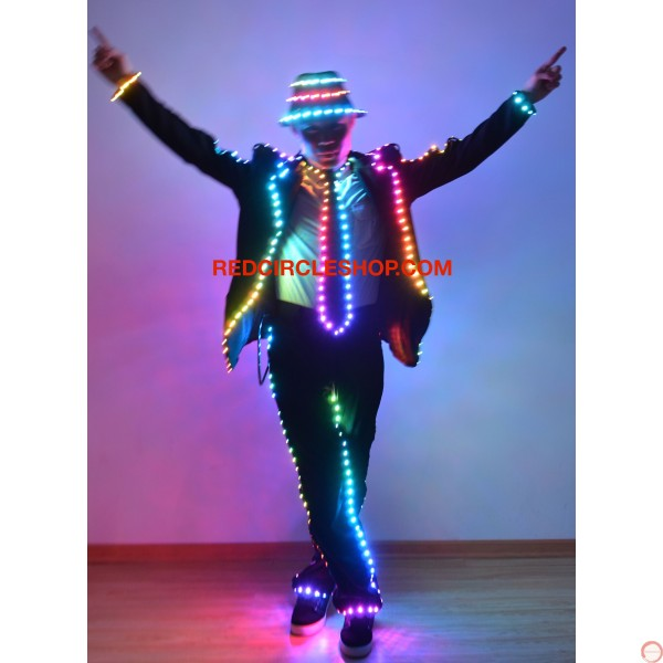 LED full color MJ dancing costume - Photo 2