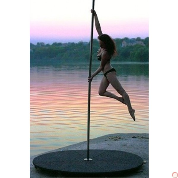 Pole with pedestal for acrobatic dance, spinning. - Photo 25