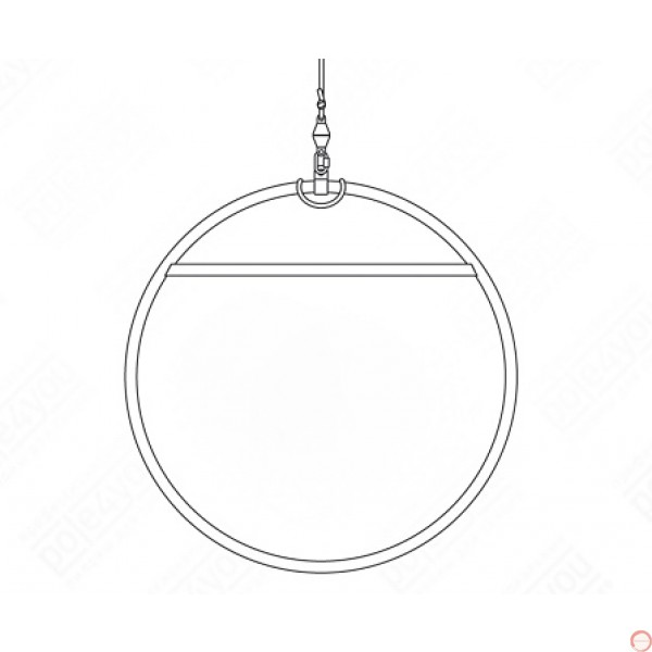 Aerial lyra, hoop (Titanium) - Photo 8
