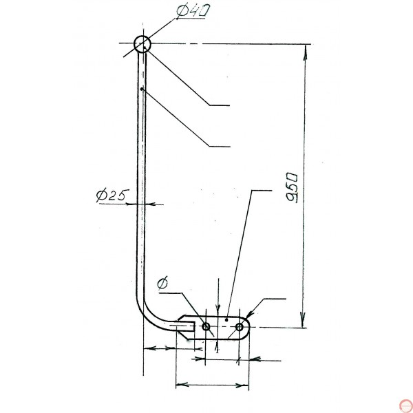 Up standing stick for Tight wire Ø25 x 950  - Photo 10