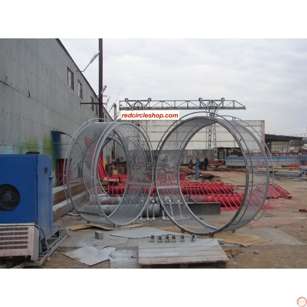 PRICE ON REQUEST. The American wheel of death (2-arms swing) on supports, reinforced shtamber - Photo 9