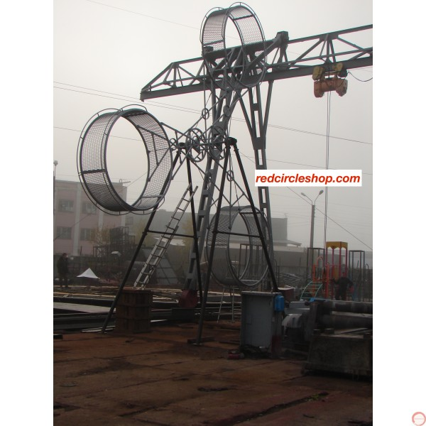 PRICE ON REQUEST. The American wheel of death (2 ор 3 arms swing) on the supports - Photo 14