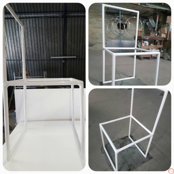 Stacking chairs for handbalancing act  - Photo 4
