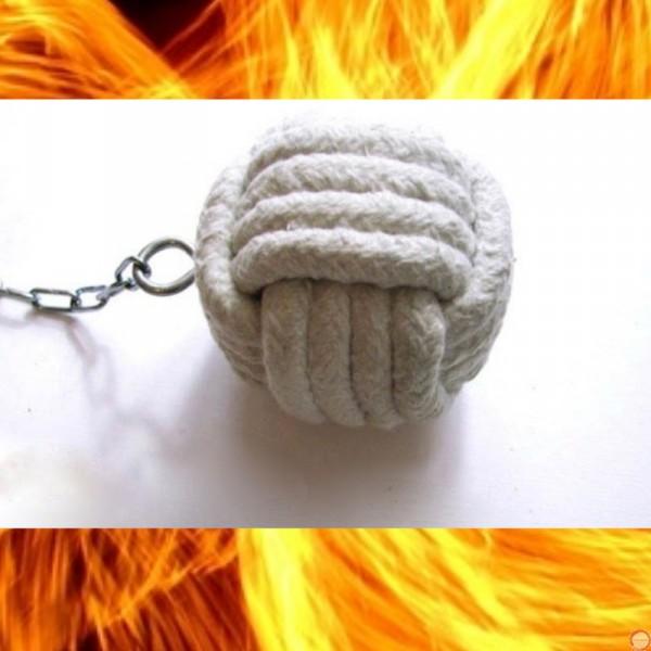 Fire Poi Monkey Fist (Monkeyfist) 4 turns Ceramic cord - Photo 6