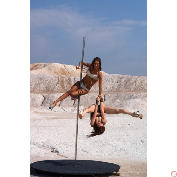 Pole with pedestal for acrobatic dance, spinning. - Photo 29